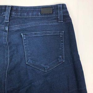Paige Verdugo Ankle Skinny Dark Wash Blue Jeans
